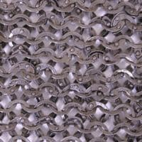 Chain Mail Leg Protection/ Chausses Flat Ring Wedge Rivets (FRW), 8mm I.D